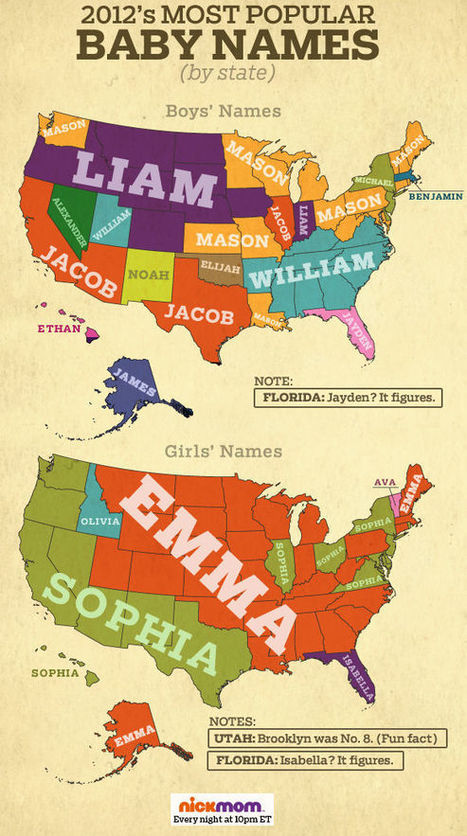Baby Name Regions? | Geography Education | Scoop.it