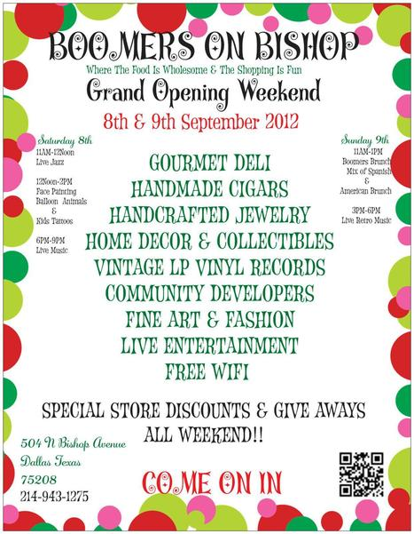 Boomers Grand Opening ~ You're Invited!! | aCommunityAffair Oak Cliff | Scoop.it