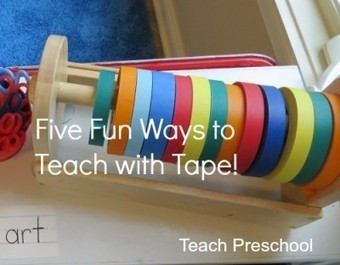 Five fun ways to teach with tape | Teach Preschool | Scoop.it