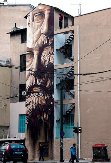 "iNO ""System of a Fraud"" New Mural - Athens, Greece 