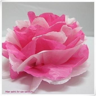 Fleur en papier de soie tuto de loisirs cr ea - Tuto fleur en papier ...