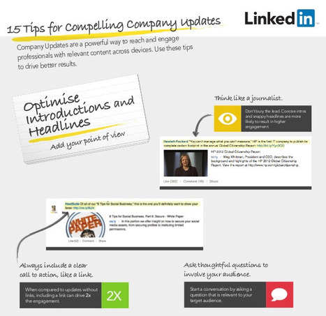 15 LinkedIn Tips for compelling company updates | All About LinkedIn | Scoop.it
