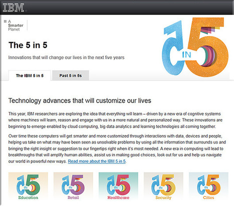 IBM's 5-in-5: Innovations that will change our lives in the next 5 years | Learning Happens Everywhere! | Scoop.it