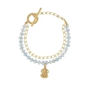 Little Ganesha Charm Bracelet (Aquamarine) | Jewlery and Accessories | Scoop.it