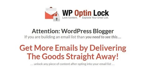 Free WP Optin Lock Plugin Full Version - Free EGoods Host | Software Giveaway and Deals | Scoop.it