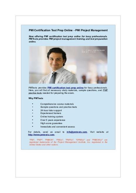 PMI Certification Test Prep Online - PMI Project Management   PMTests   Scoop.it