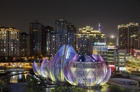 The Lotus Building Grows from a Lake in Wujin, China | sustainable architecture | Scoop.it
