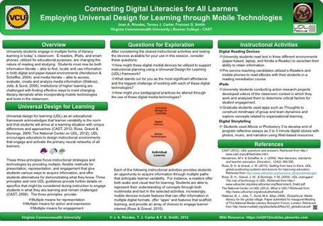 Connecting Digital Literacies for All Learners: Employing Universal Design for Learning through Mobile Technologies | SENSES project: Assembling your digital toolkit | Scoop.it