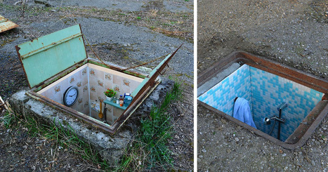 Secret Rooms Installed Inside Abandoned Manhole Covers on the Streets of Milan | Modern Ruins | Scoop.it