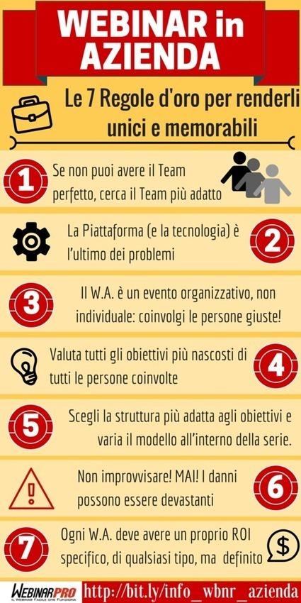 Le 7 regole d'oro dei Webinar in Azienda | Webinar, WebConference, WebMeeting, WebTraining, Telesummit, Riunioni online, TeleSeminar and... | Scoop.it