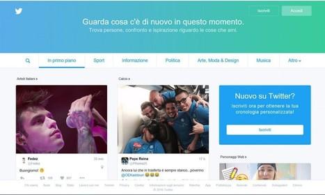 E Twitter rende disponibile la nuova home anche in Italia | Social Media War | Scoop.it