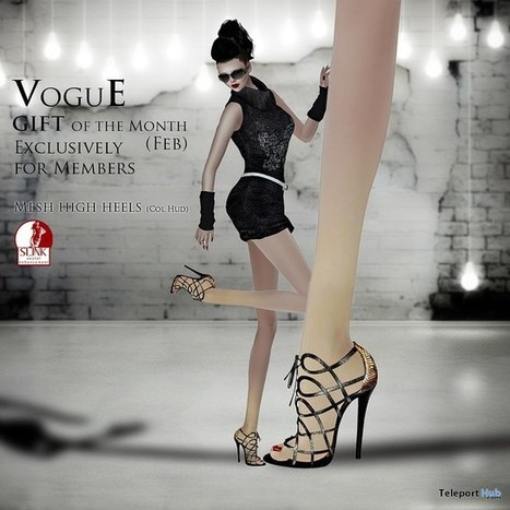 Sandelina High Heels With Color HUD For Slink February 2016 Group Gift by VoguE | Teleport Hub - Second Life Freebies | Second Life Freebies | Scoop.it