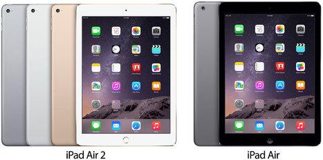 Tabela comparativa entre as duas gerações do iPad Air | Apple iOS News | Scoop.it