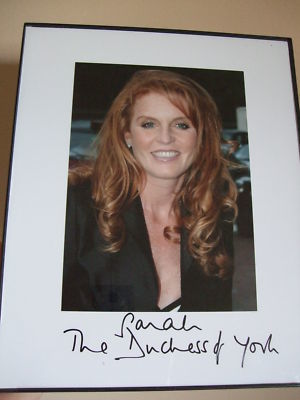 LOVELY SARAH FERGUSON HAND SIGNED PHOTOGRAPH | Amazing Rare Photographs | Scoop.it