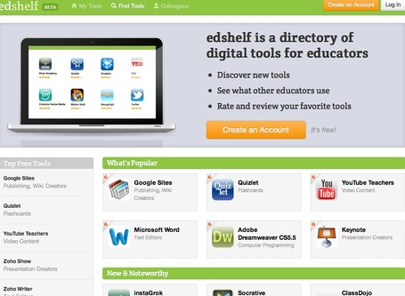 edshelf - a Directory of Digital Tools for Educators | Utilidades TIC para el aula | Scoop.it