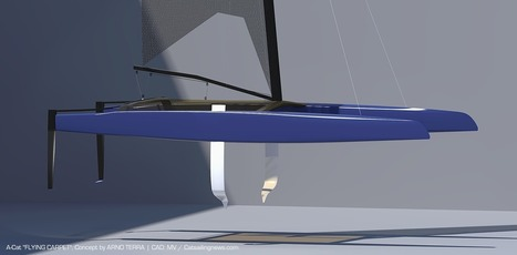 Catamaran Racing, News & Design: The Quest for the Full Foiling A-Class: Arno Terra's 'Flying Carpet'   FLYING MULTIHULLS   Scoop.it