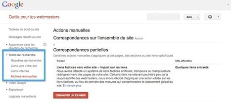 SEO : Les pénalités manuelles désormais indiquées par Google dans votre espace webmaster | Ressources social et développement | Scoop.it