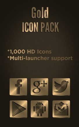Icon Pack - Gold v2.0.7 | ApkLife-Android Apps Games Themes | Android Applications And Games | Scoop.it