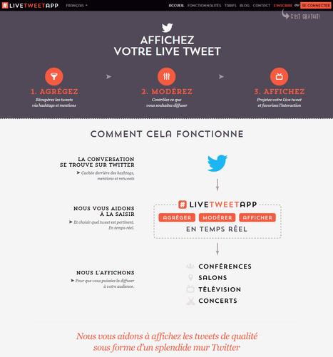 Outil de live tweet pour événements et conférences | Social media - E-reputation | Scoop.it