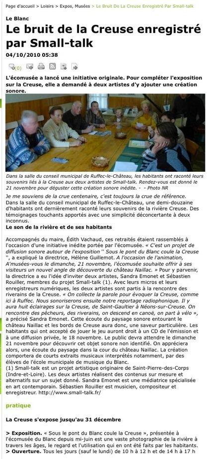 2010 :: VUES - Sandra Emonet | DESARTSONNANTS - CRÉATION SONORE ET ENVIRONNEMENT - ENVIRONMENTAL SOUND ART - PAYSAGES ET ECOLOGIE SONORE | Scoop.it