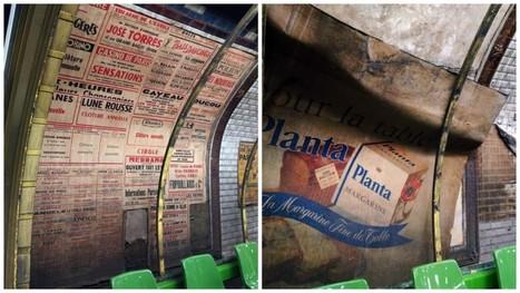 Quand les rénovations d'une station de métro parisien révèlent des vieilles affiches des années 50's - Il était une pub | ESL- EFL and Art | Scoop.it
