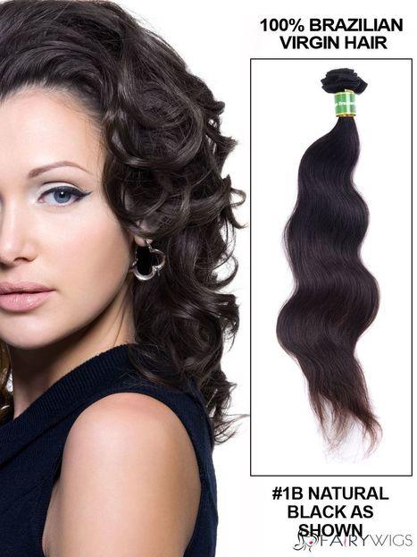 "12""-30"" Body Wave Brazilian Virgin Hair Extension Weft - Natural Black : fairywigs.com | Hair Extensions | Scoop.it"