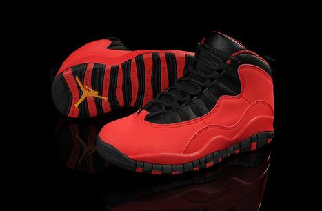 Air Jordan 10 Fusion Red Black Laser Orange for Sale Online | Air Jordan shoes | Scoop.it