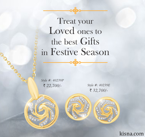 Treat your loved ones to the best #gifts in festive season.  | Latest Indian Diamond Jewellery Designs | Scoop.it