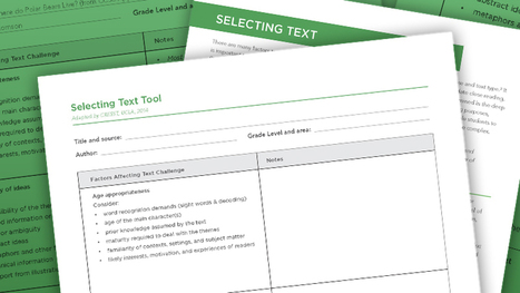 Selecting Text tool | The Center on Standards & Assessment Implementation | AdLit | Scoop.it