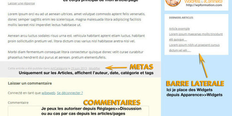 Article, Page, Catégorie & Tag WordPress, les différences | WordPress France | Scoop.it