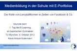 Keynote beim 1. Tag des E-Learning an bayerischen Gymnasien in Im Blickfeld - Mahara ePortfolio IMB Danube University Krems Austria   Moodle Courses and OER   Scoop.it