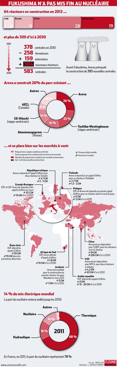 Le marché du nucléaire un an après Fukushima | Journalisme graphique | Scoop.it