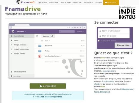 Framadrive, conservez et synchronisez 2 Go sur nos serveurs | Framablog | Sécurité numérique | Scoop.it
