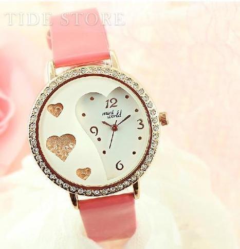 New Arrival Sweet Heart-shaped Romantic Lady's Watch   2014 spring  women's fashion   Scoop.it