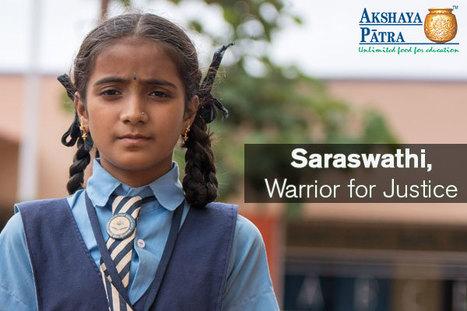 Meet the Aspiring Laywer Saraswathi | akshayapatra | Scoop.it