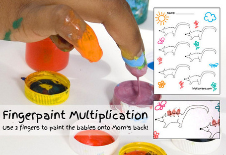 Fingerpaint Multiplication – Free Handout | Hands on Math | Scoop.it