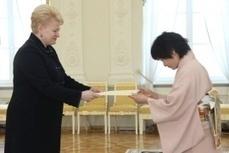 2012-03-07 :: La Présidente a accepté les Lettres de créance de l'Ambassadrice du Japon   Pays Baltes   Scoop.it
