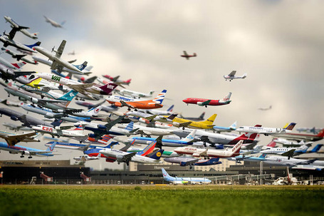 "Striking Multiple Exposure Shot of Takeoffs at Hannover Airport | ""Cameras, Camcorders, Pictures, HDR, Gadgets, Films, Movies, Landscapes"" 