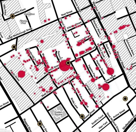 John Snow's cholera map of London recreated | Theme 4: People & Development | Scoop.it