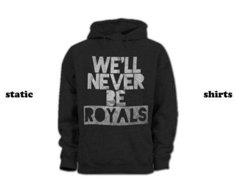 Lorde Hoodie   We'll Never Be Royals Hoodie SILVER INK   T-Shirt   Scoop.it