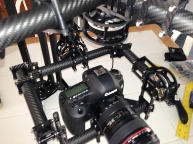3 Axis CF Hand Held Gimbal for Full Size DSLR Canon 5D | Arduino progz | Scoop.it