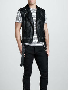 Perforated Men Designer Leather Valentine Special Vest | Leather Apparels World-Wide | Scoop.it