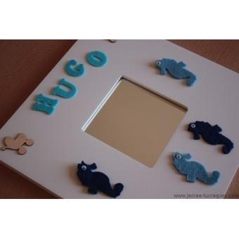 Cadre miroir blanc avec prénom personnalisable - Je crée tu craques | Mes créations de bijoux fantaisie et autres | Scoop.it