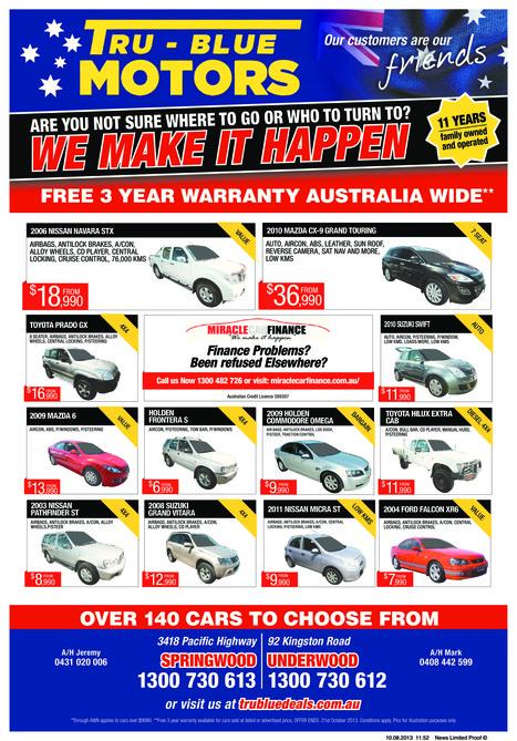 Tru-Blue Motors used cars latest advertised specials | Tru Blue Motors | Tru-Blue Deal | Scoop.it