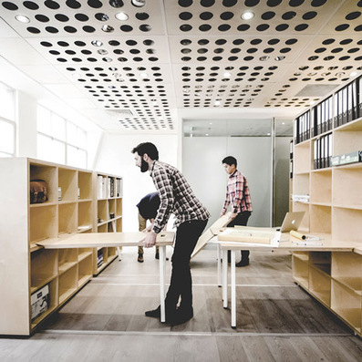 Particular Architects build themselves a reconfigurable studio | workplace creativity: innovation et travail | Scoop.it