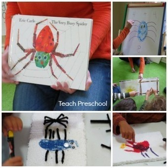 Making our own very busy spiders and spider webs | Teach Preschool | Scoop.it
