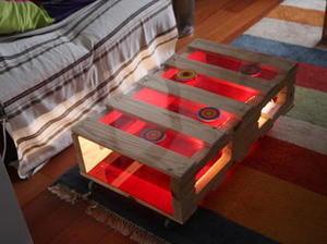 Table basse en palette et plexi diy diy pal - Table de nuit en palette ...