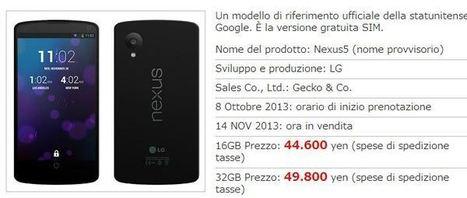 Nexus 5 in preordine in Giappone: confermate le due varianti di batteria! | SMARTFY - Smartphone, Tablet e Tecnologia | Scoop.it