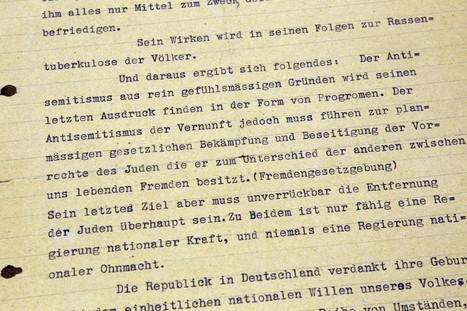 ÉCRITS DE JEUNESSE – Une lettre antisémite écrite par Adolf Hitler en 1919 dévoilée | GenealoNet | Scoop.it