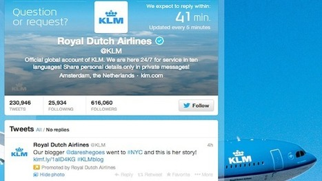 KLM Displays Live Response Time for Social Media Customer Service | Content | Scoop.it